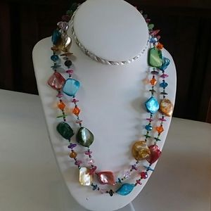 Jewelry - Colorful Dyed Shell Necklace